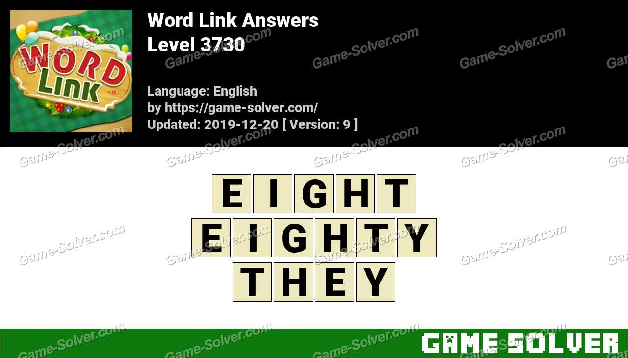 Word Link Level 3730 Answers
