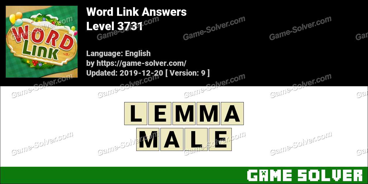 Word Link Level 3731 Answers