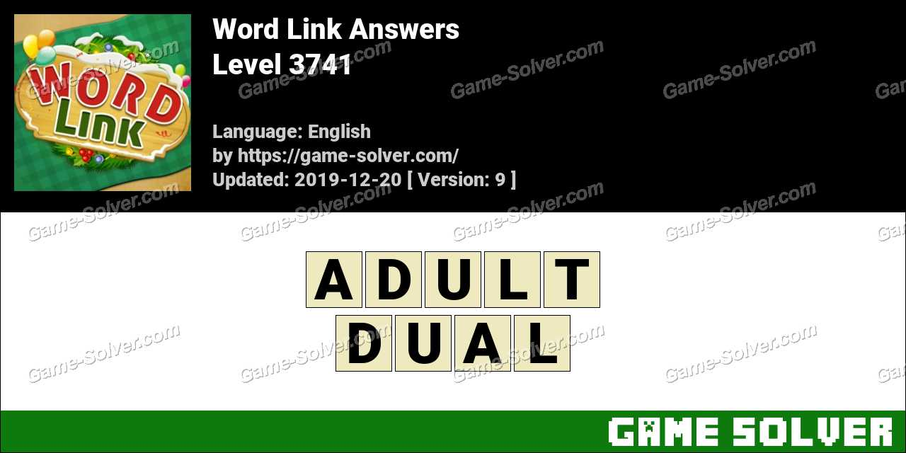 Word Link Level 3741 Answers