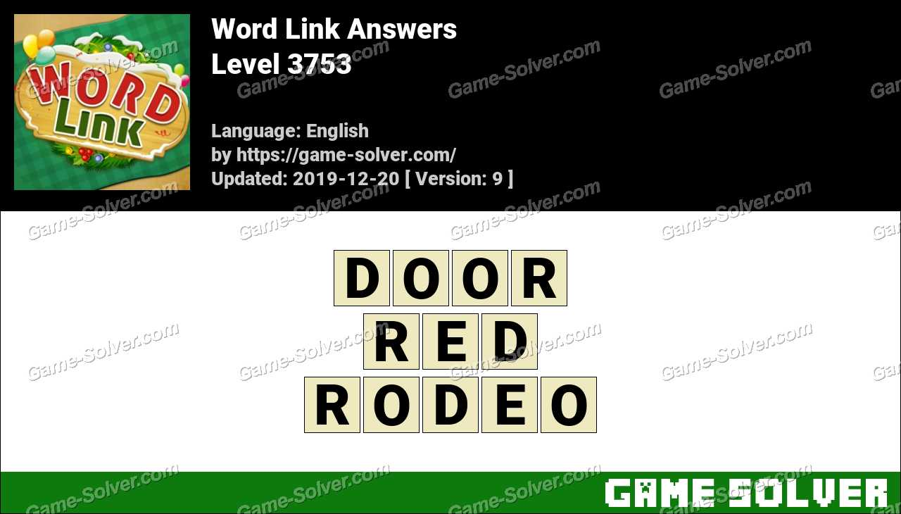 Word Link Level 3753 Answers