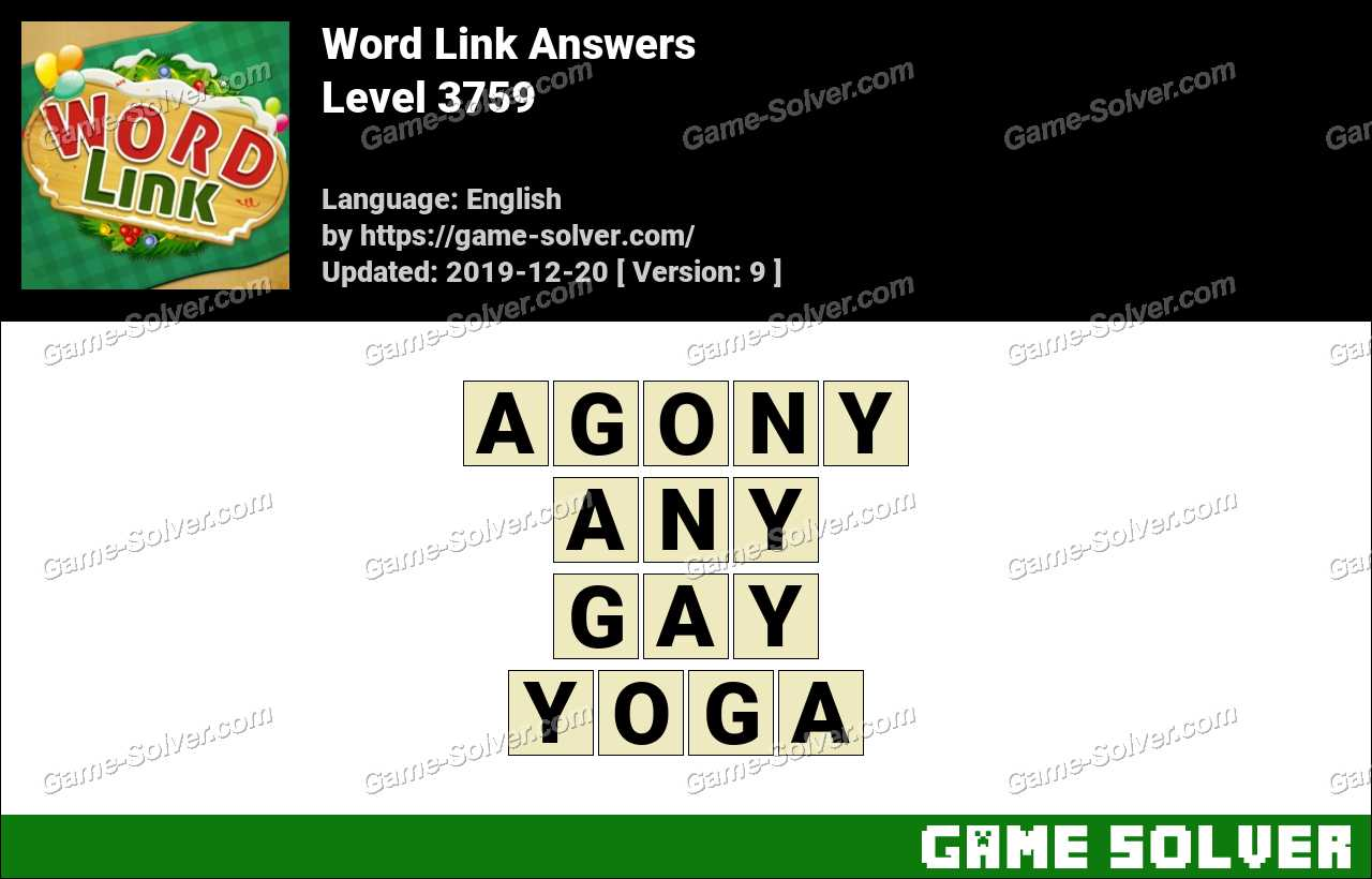 Word Link Level 3759 Answers