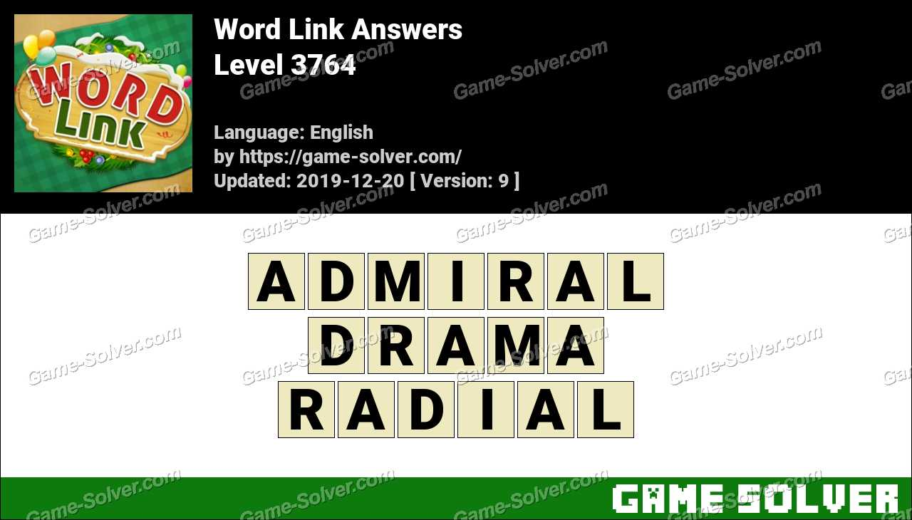 Word Link Level 3764 Answers