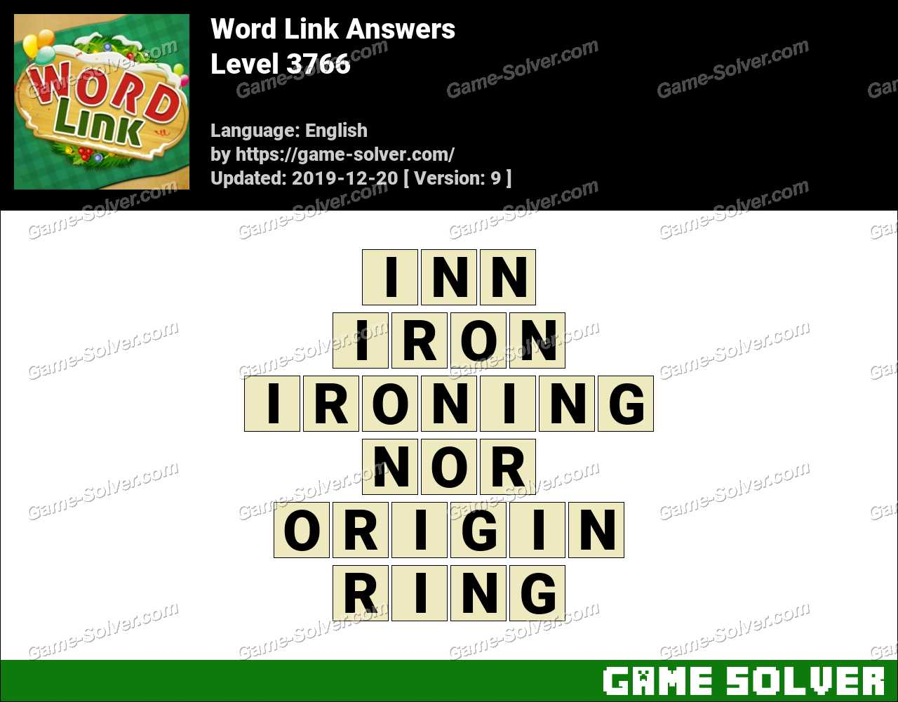 Word Link Level 3766 Answers