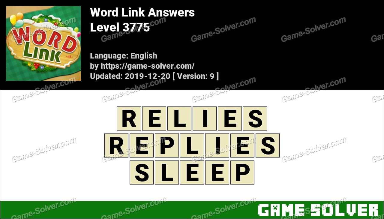 Word Link Level 3775 Answers