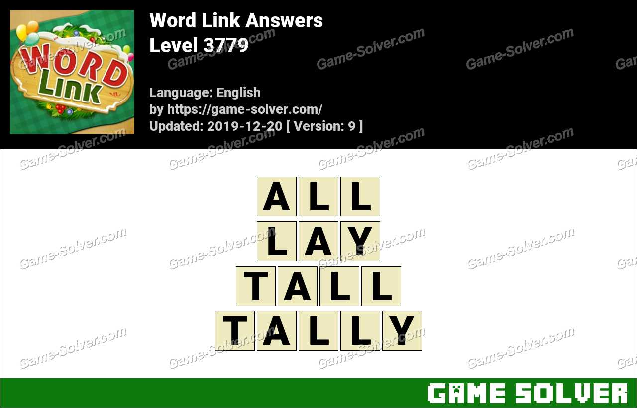 Word Link Level 3779 Answers