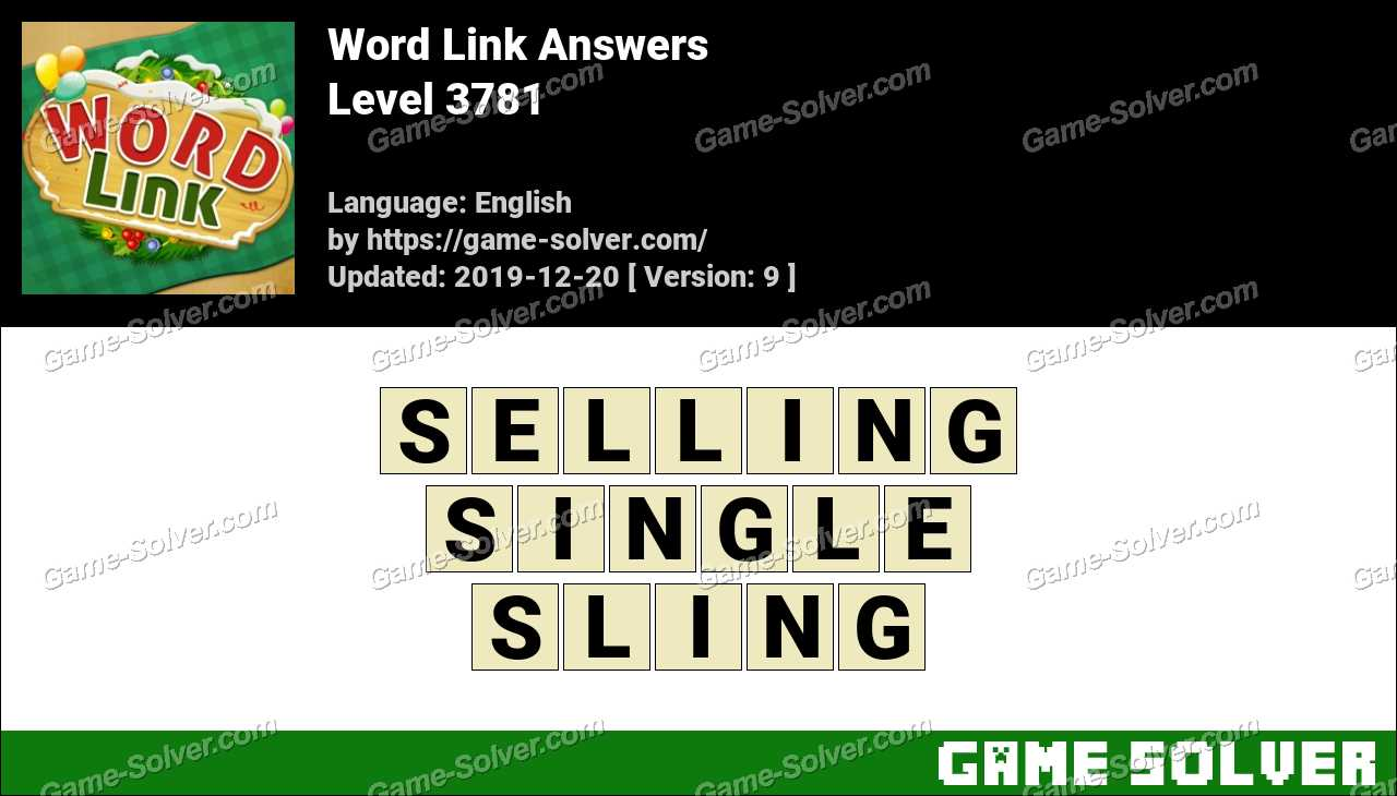 Word Link Level 3781 Answers