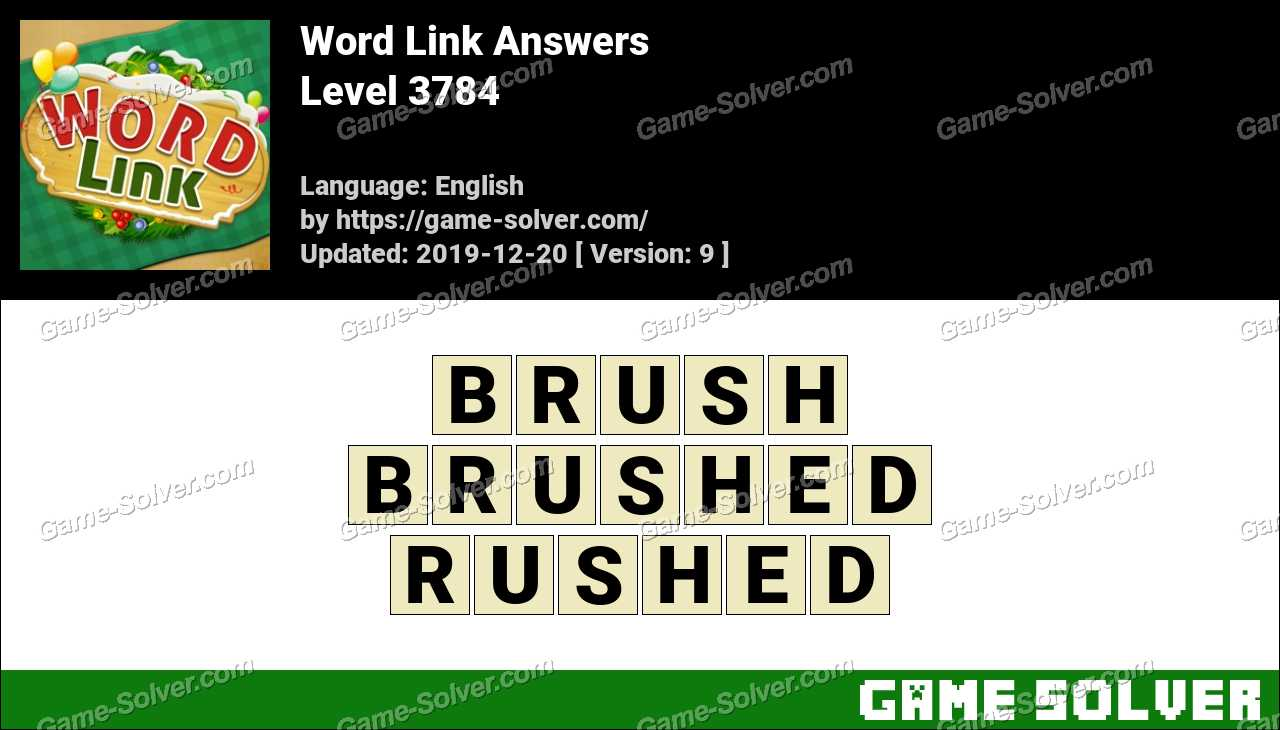 Word Link Level 3784 Answers