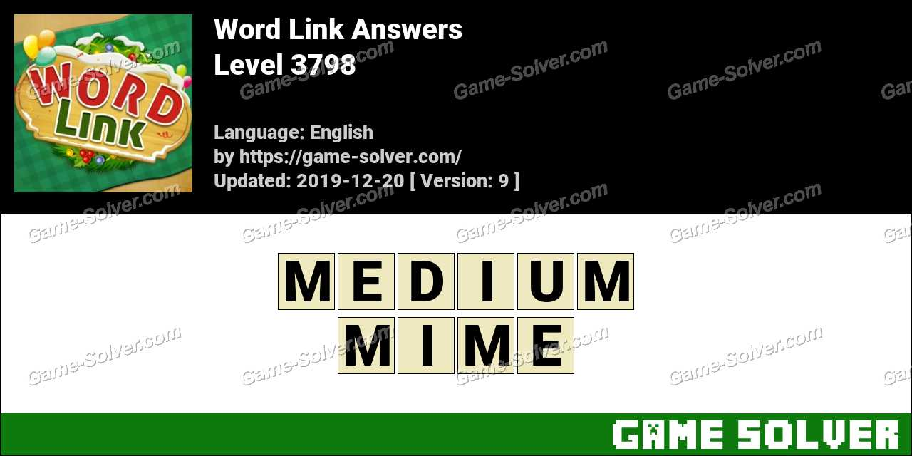 Word Link Level 3798 Answers