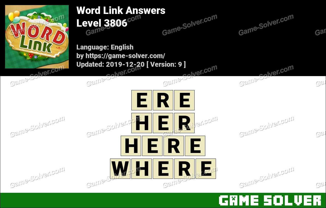 Word Link Level 3806 Answers