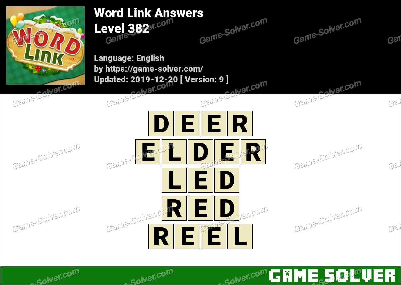 Word Link Level 382 Answers