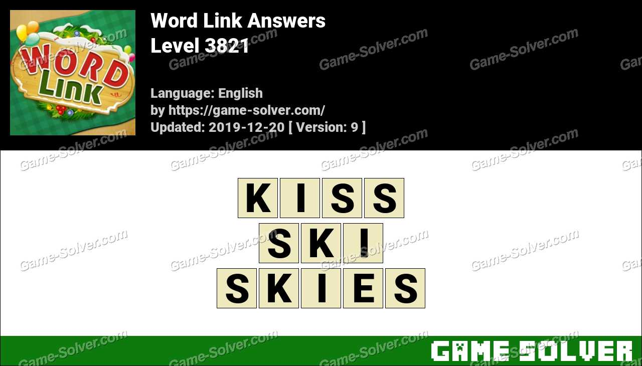 Word Link Level 3821 Answers