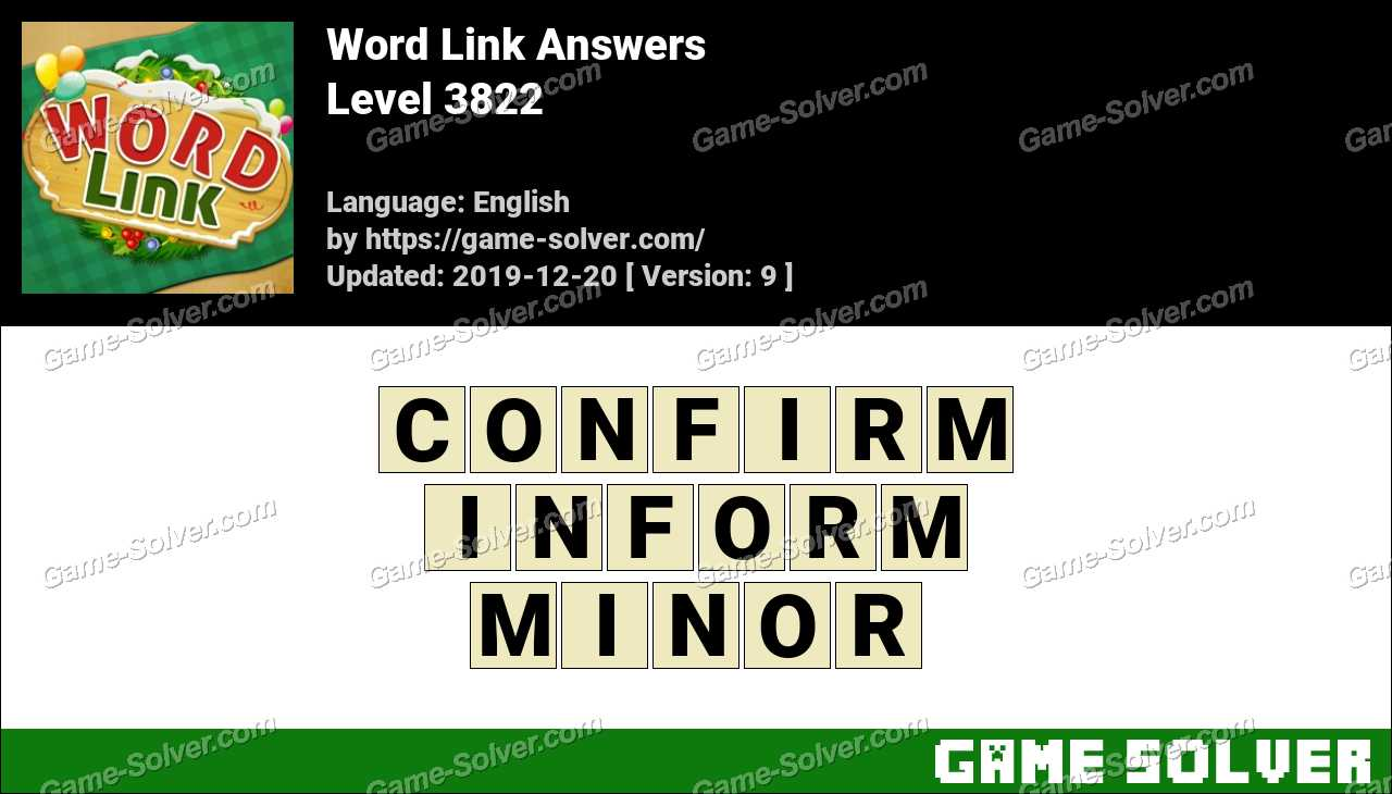 Word Link Level 3822 Answers