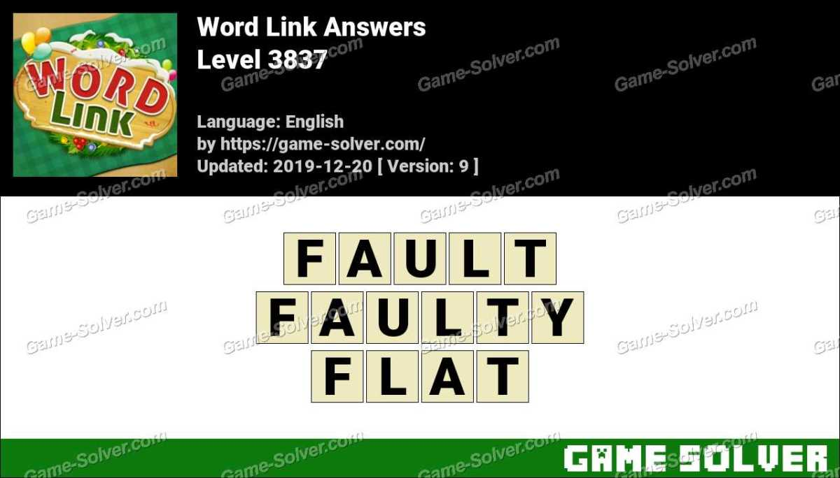 Word Link Level 3837 Answers