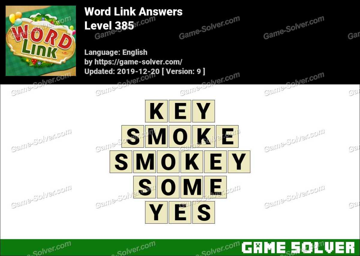 Word Link Level 385 Answers