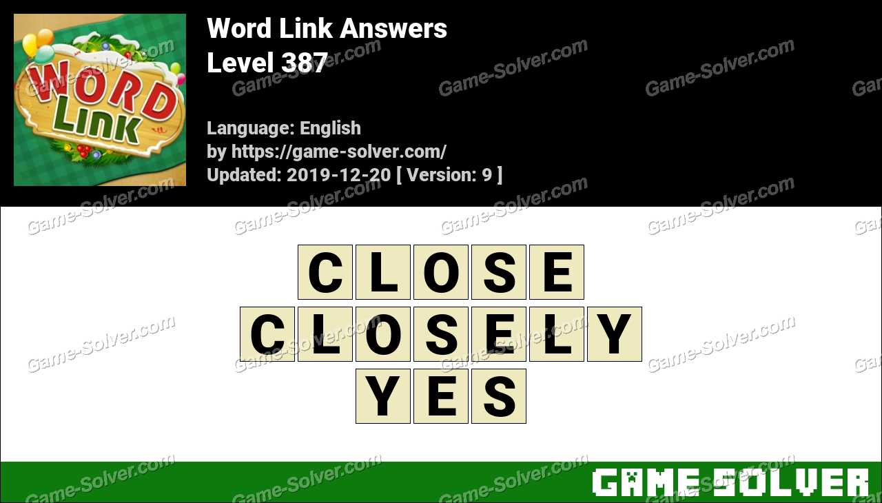 Word Link Level 387 Answers