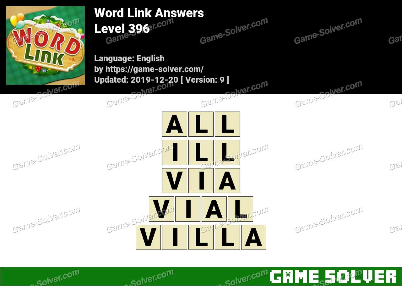 Word Link Level 396 Answers