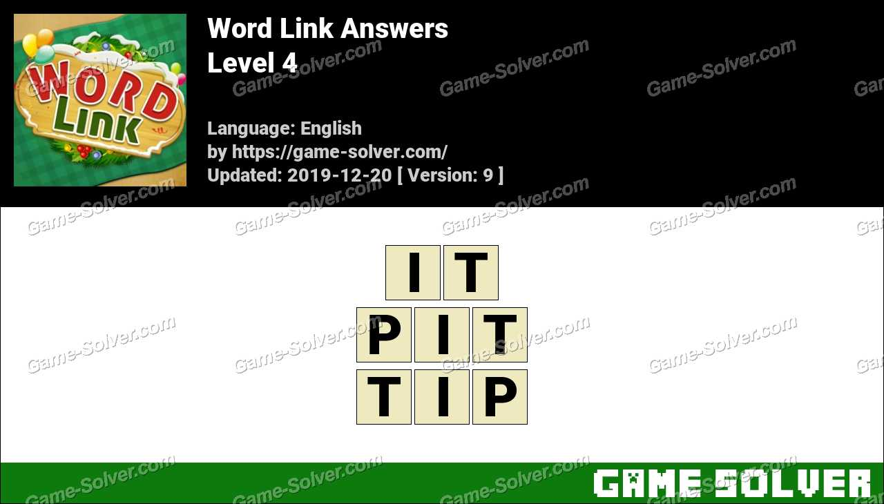 Word Link Level 4 Answers