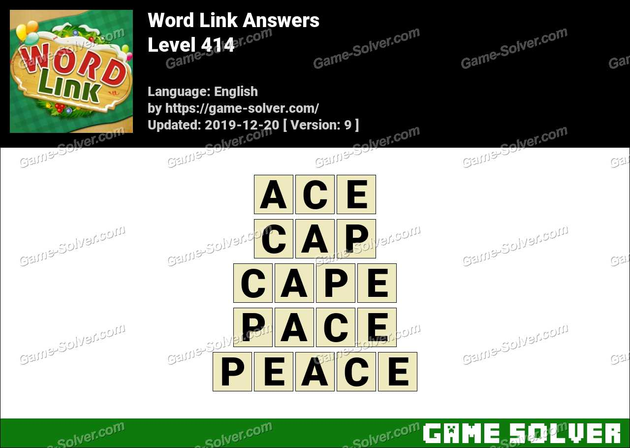 Word Link Level 414 Answers