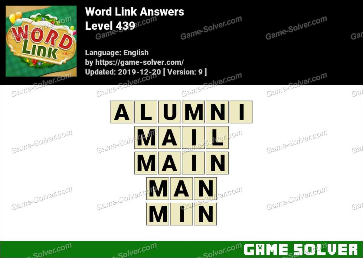Word Link Level 439 Answers