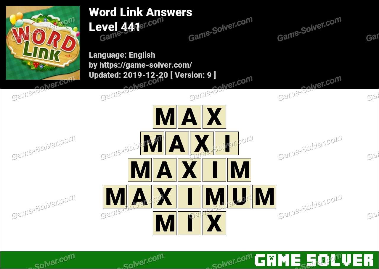 Word Link Level 441 Answers