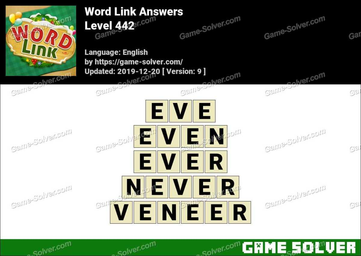 Word Link Level 442 Answers