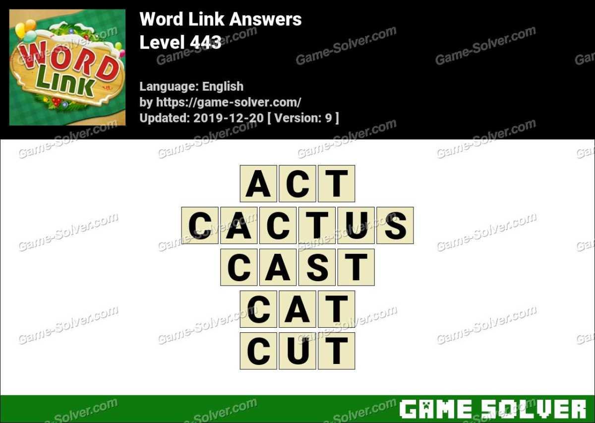 Word Link Level 443 Answers