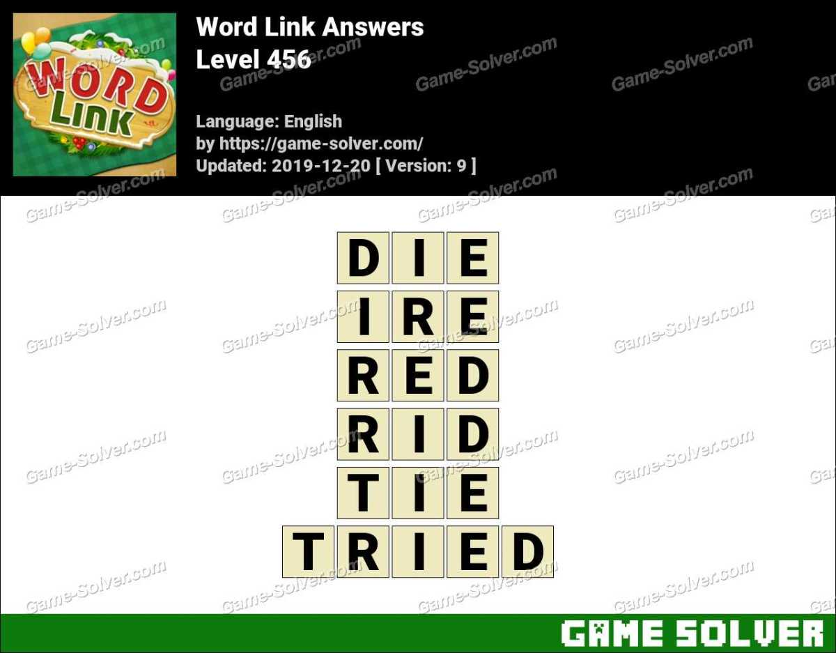 Word Link Level 456 Answers