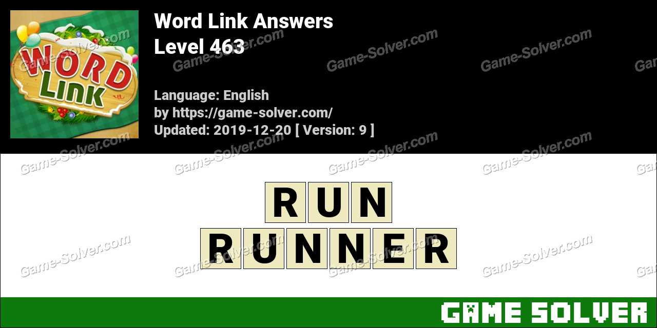 Word Link Level 463 Answers