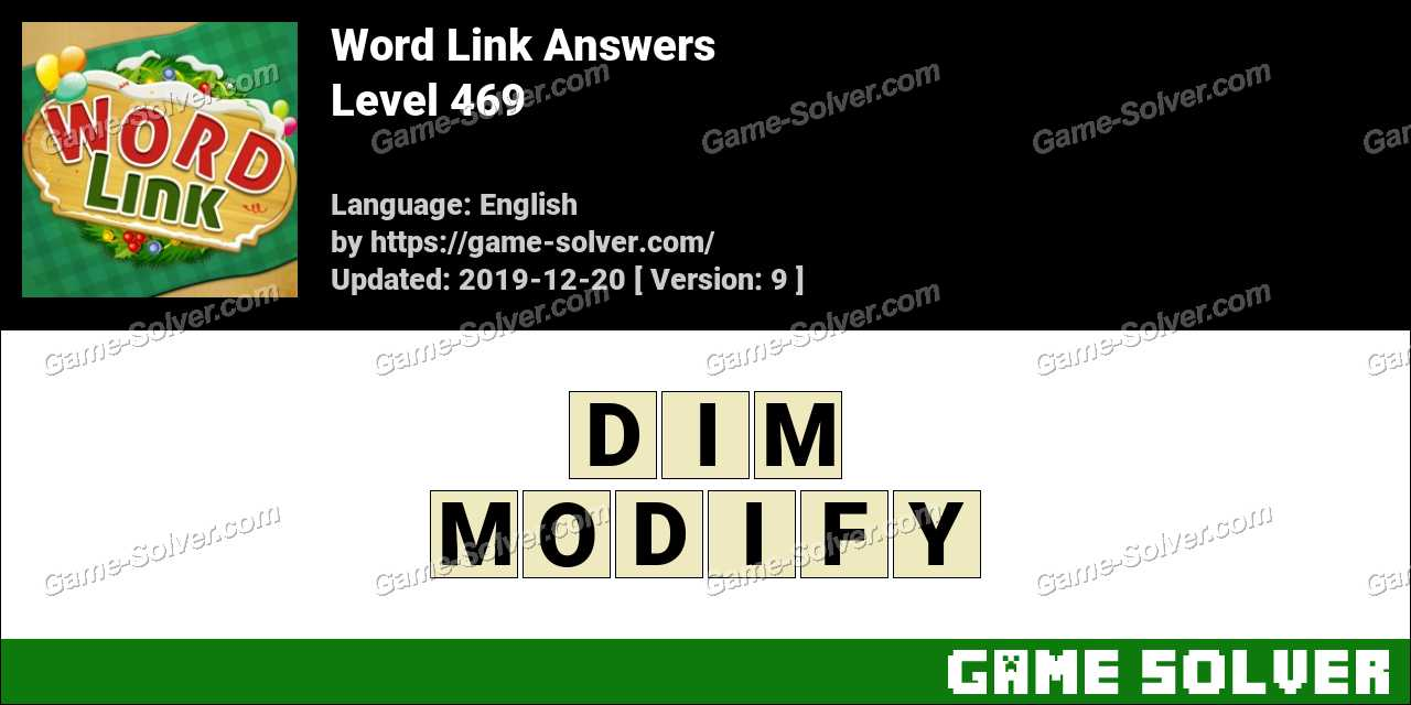 Word Link Level 469 Answers