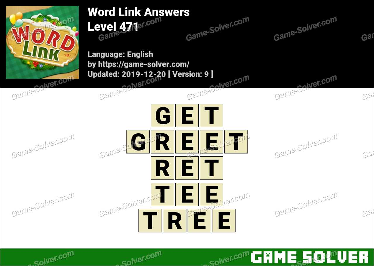 Word Link Level 471 Answers