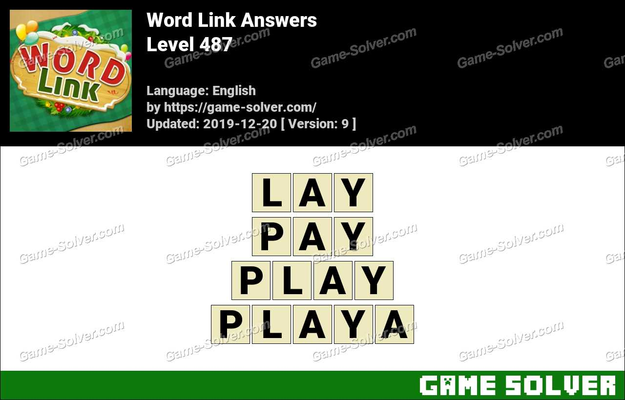Word Link Level 487 Answers