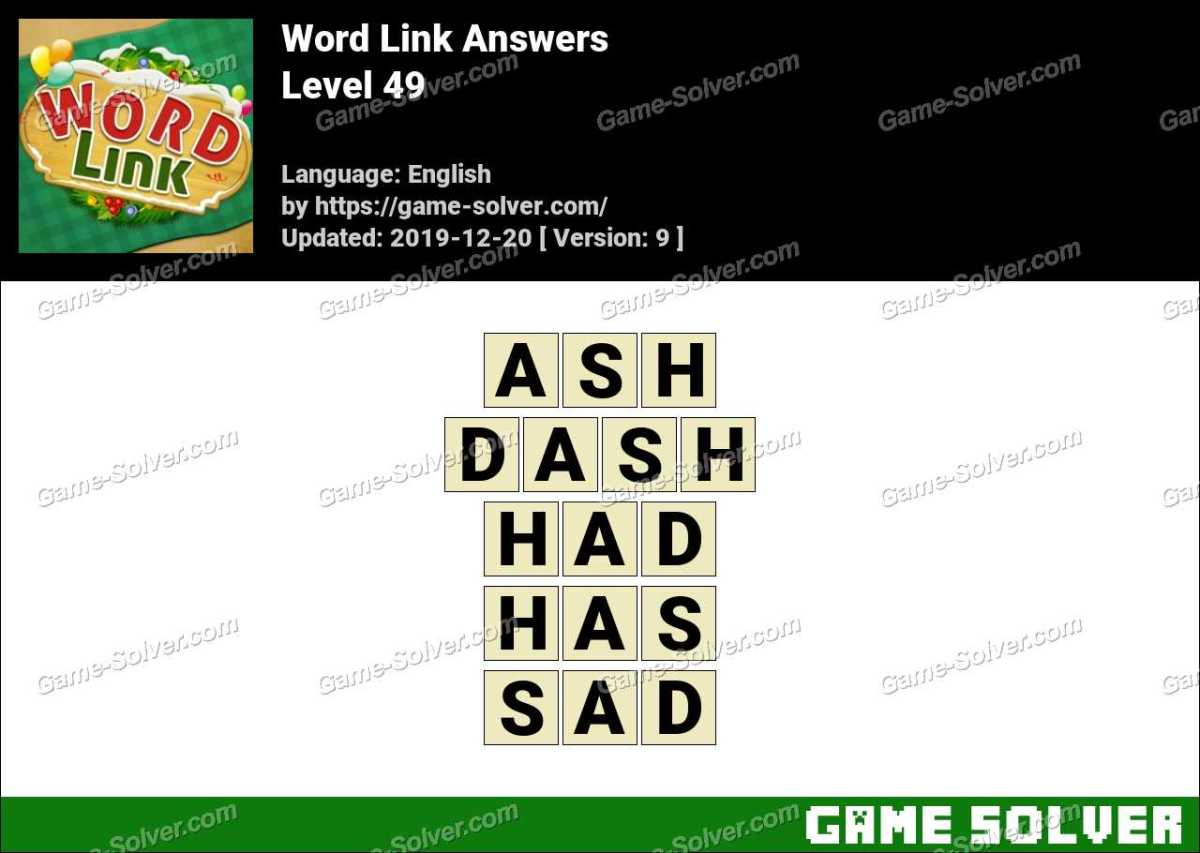 Word Link Level 49 Answers
