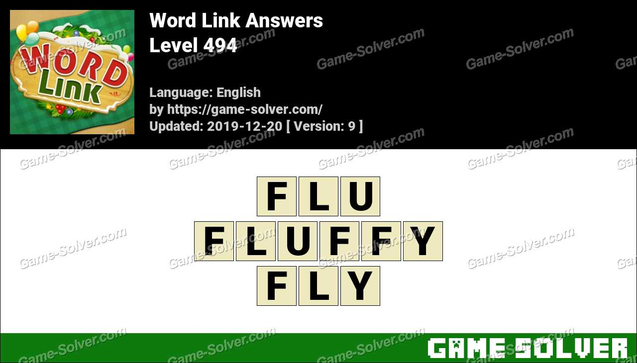 Word Link Level 494 Answers