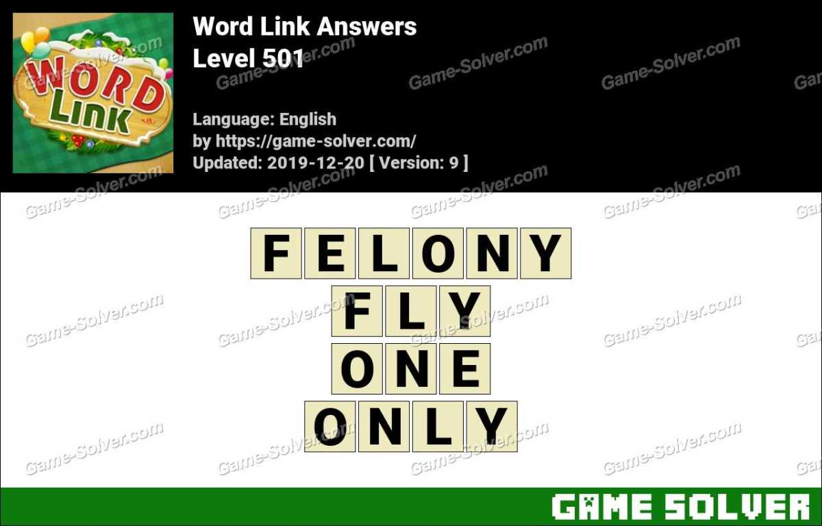 Word Link Level 501 Answers
