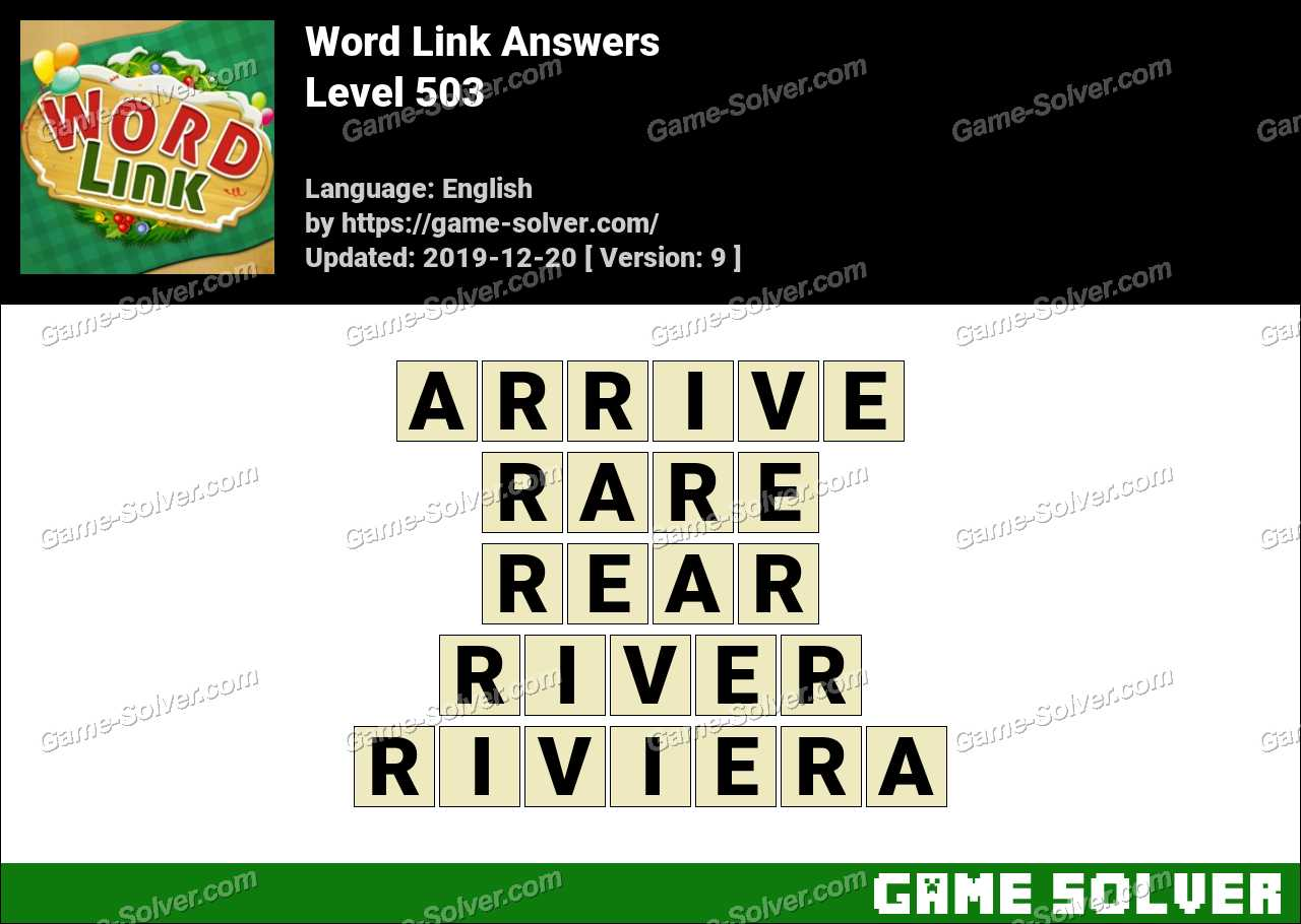 Word Link Level 503 Answers