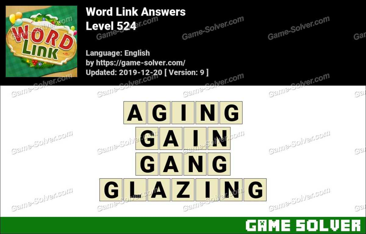 Word Link Level 524 Answers
