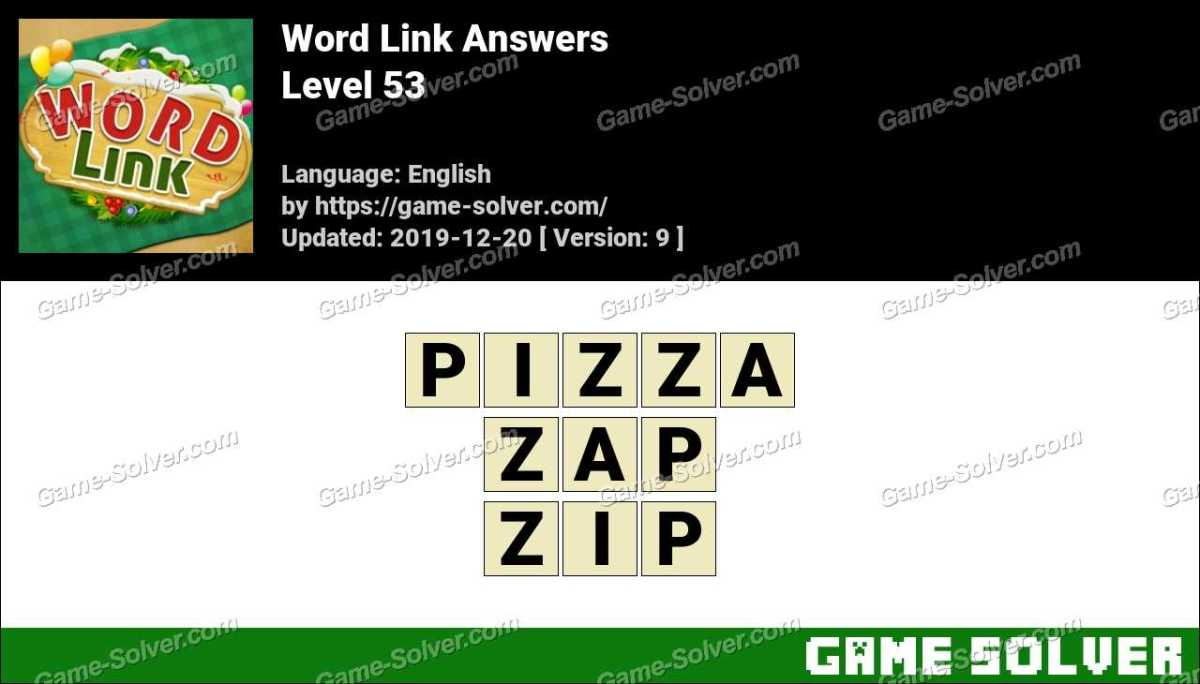 Word Link Level 53 Answers