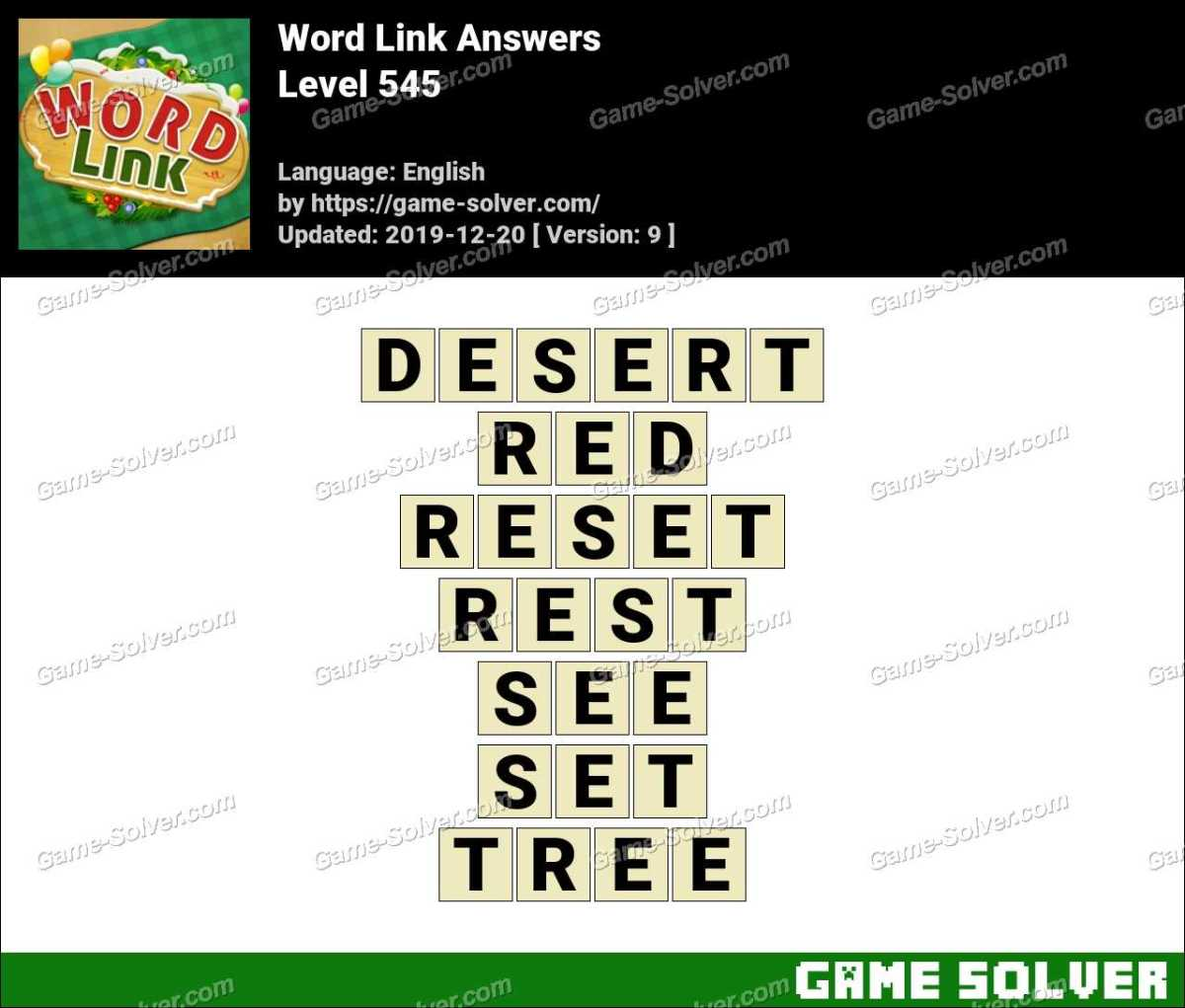 Word Link Level 545 Answers