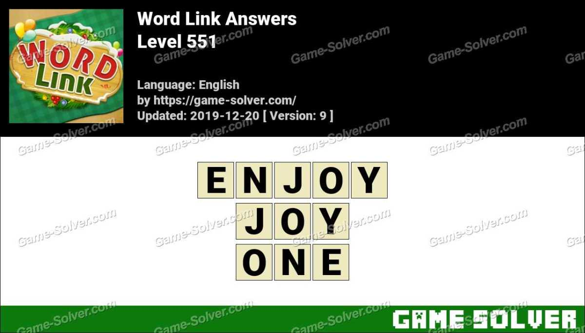 Word Link Level 551 Answers