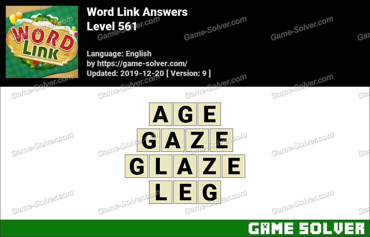 Word Link Level 561 Answers