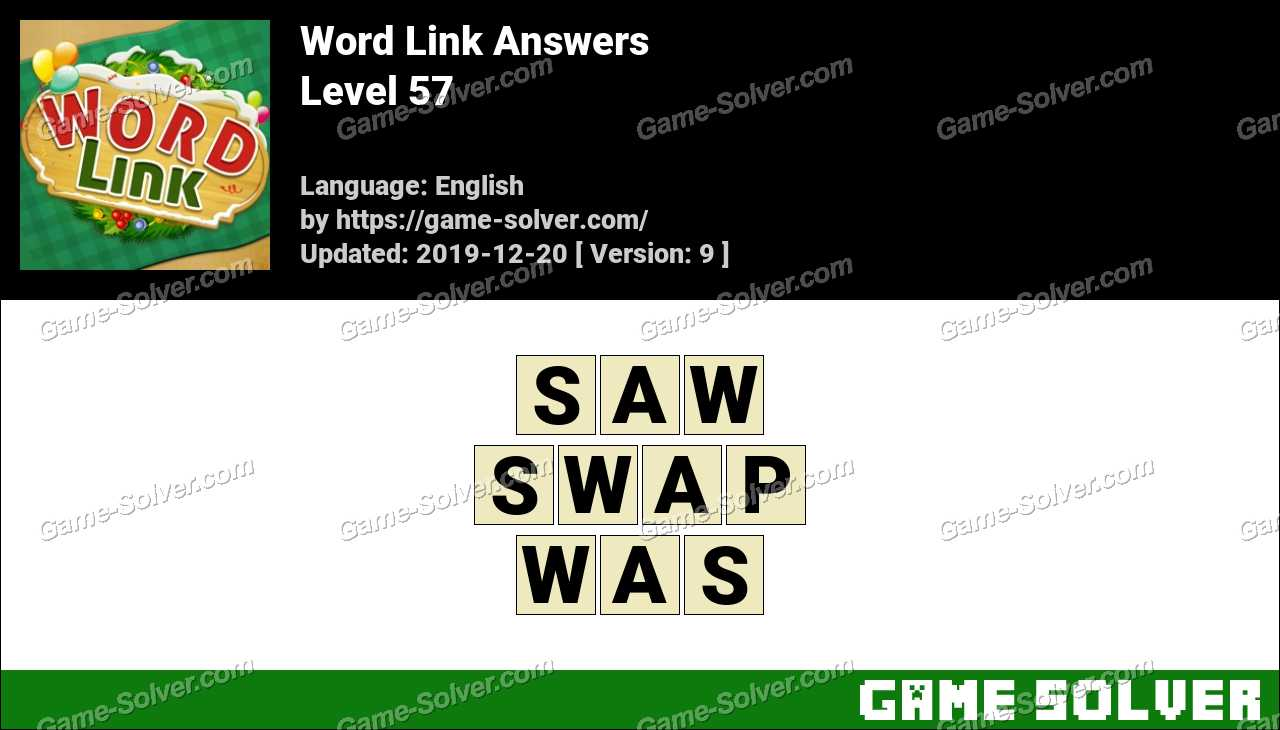 Word Link Level 57 Answers