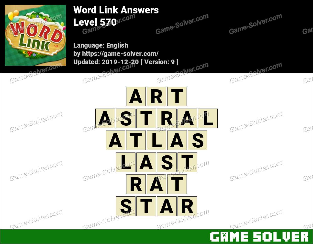 Word Link Level 570 Answers
