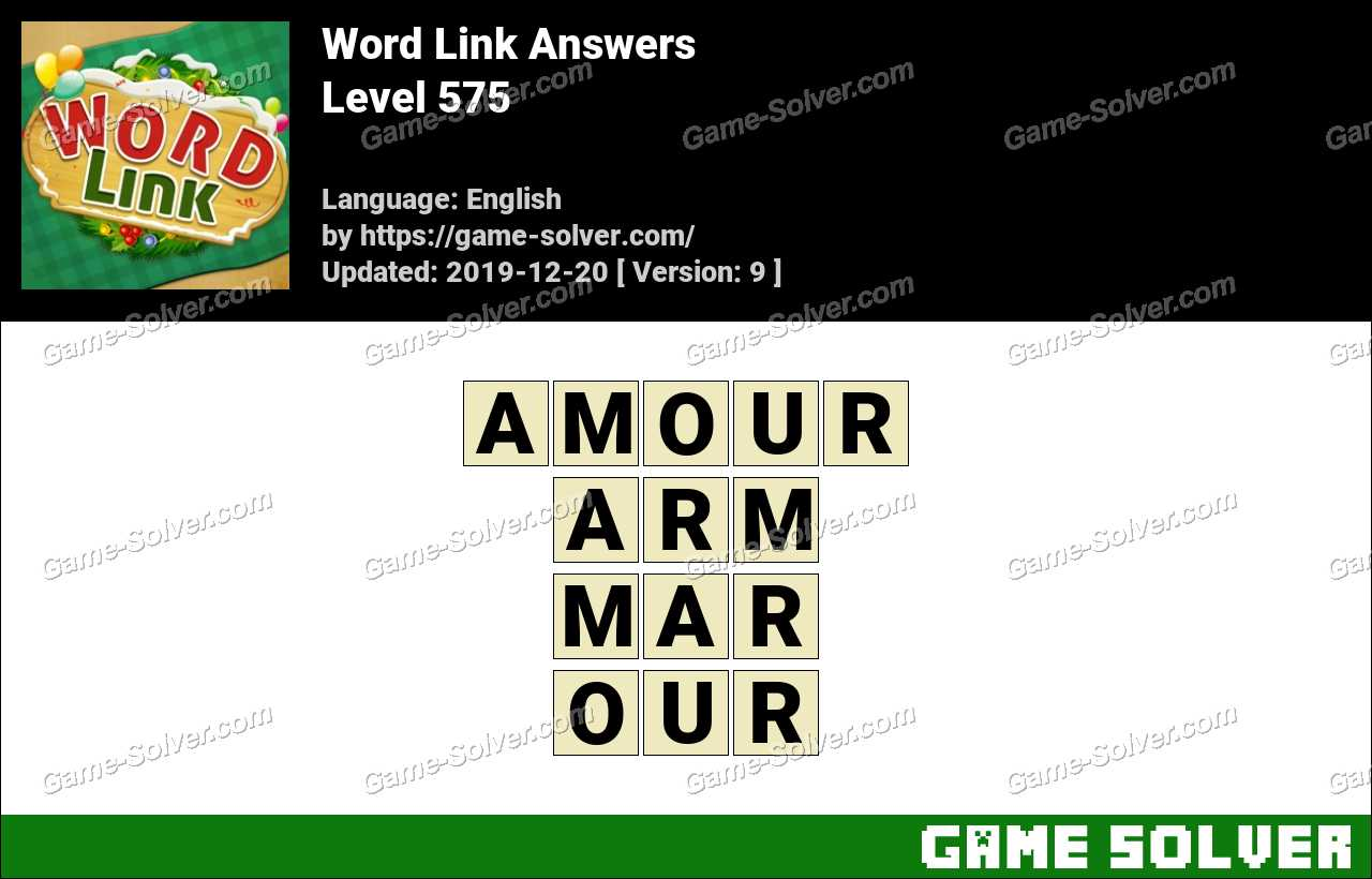 Word Link Level 575 Answers