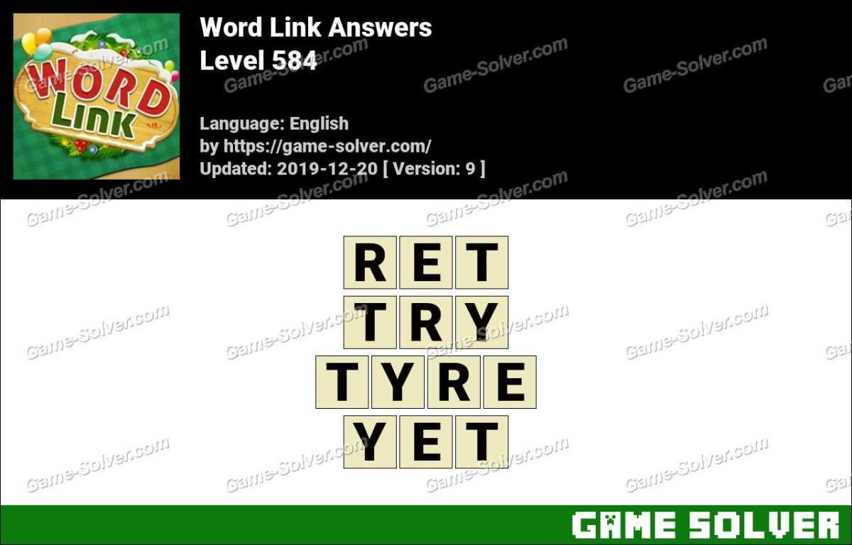 Word Link Level 584 Answers