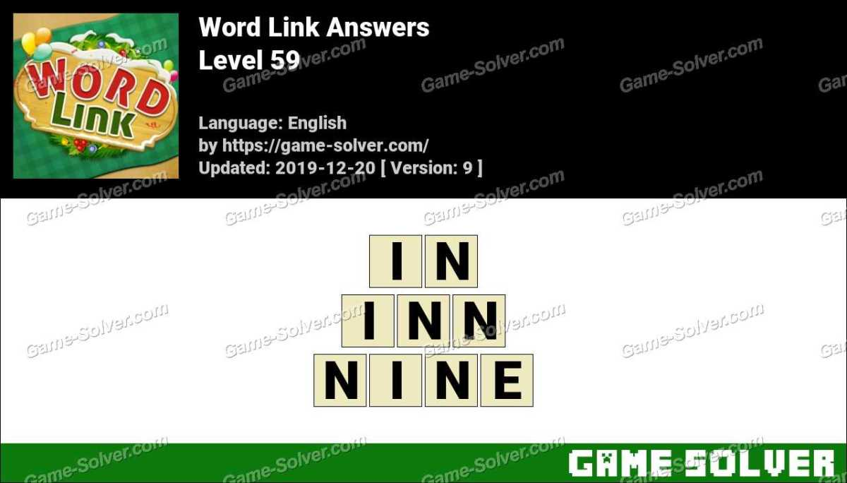 Word Link Level 59 Answers