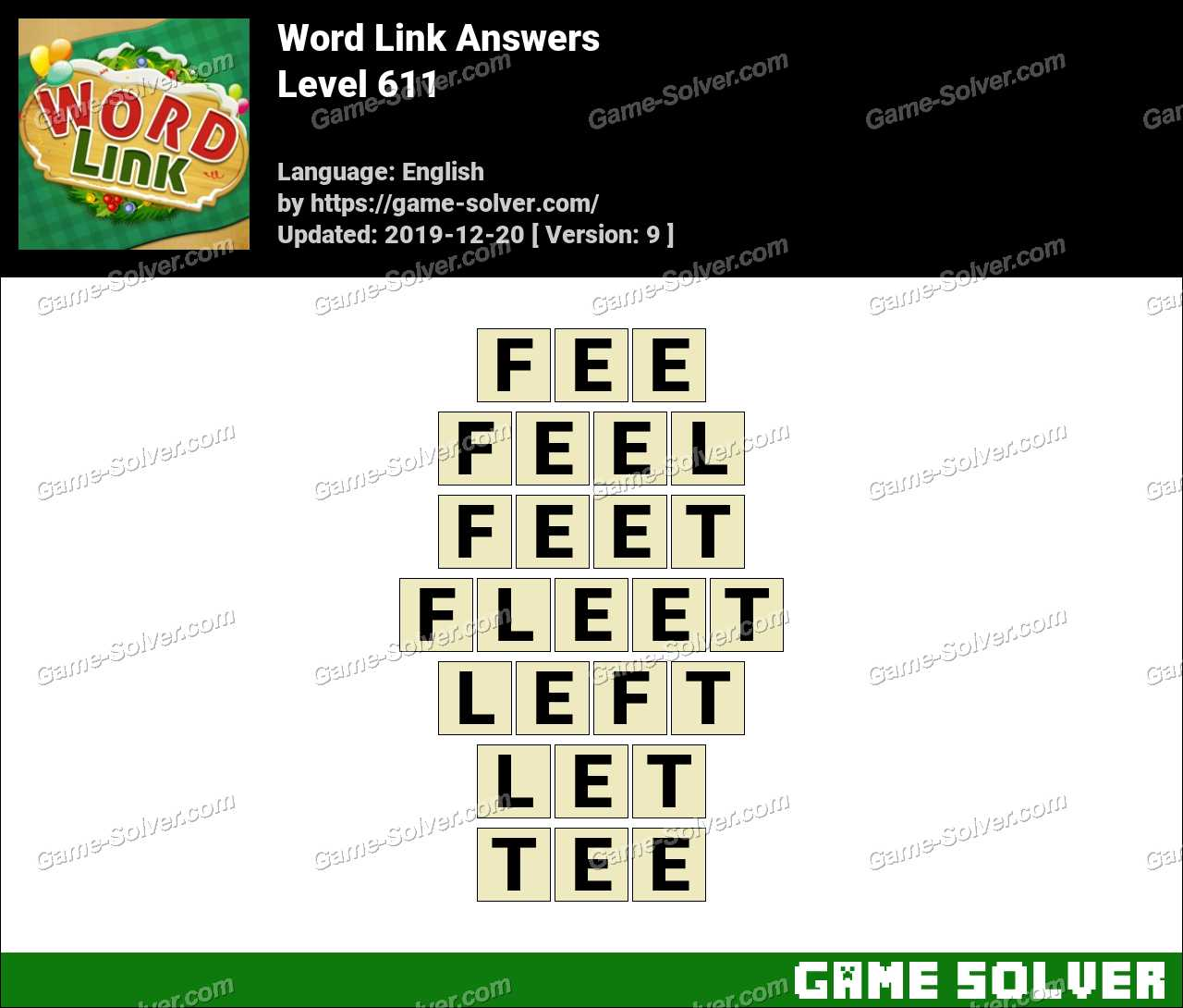 Word Link Level 611 Answers