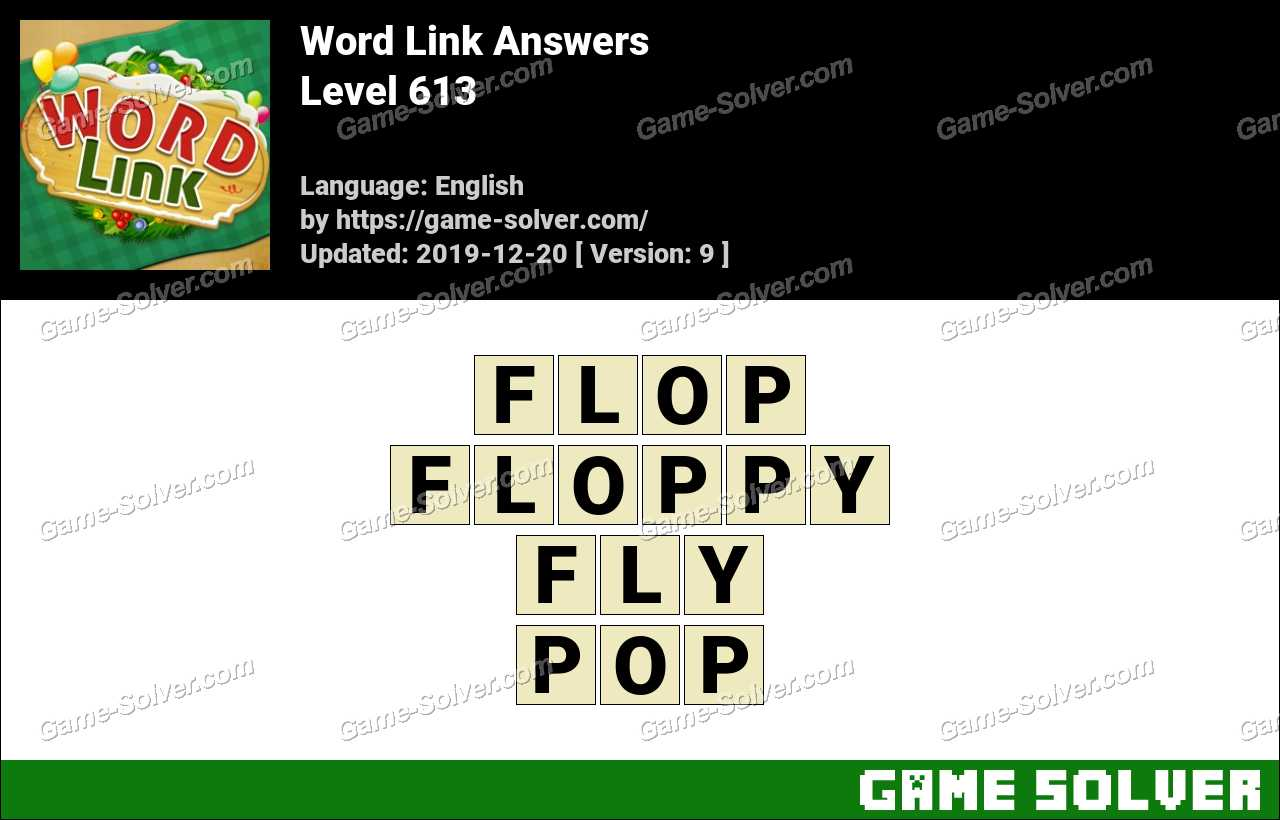 Word Link Level 613 Answers