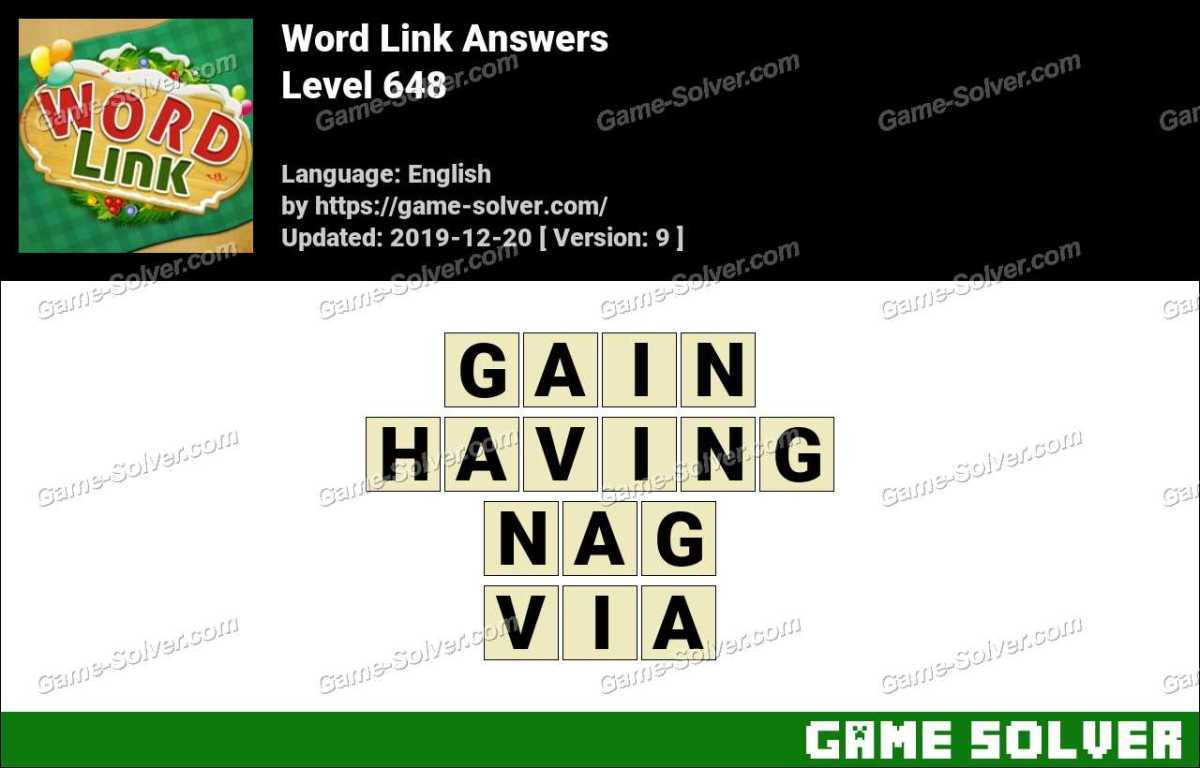 Word Link Level 648 Answers