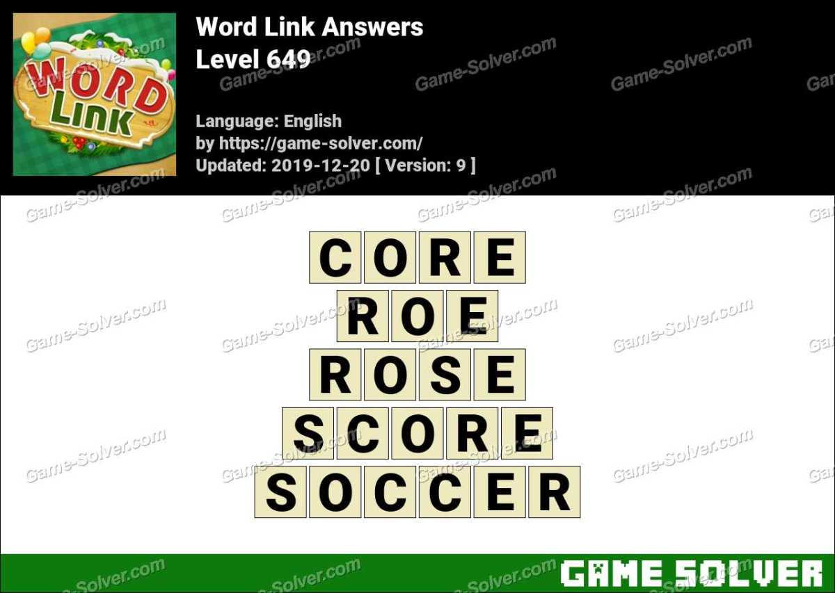 Word Link Level 649 Answers