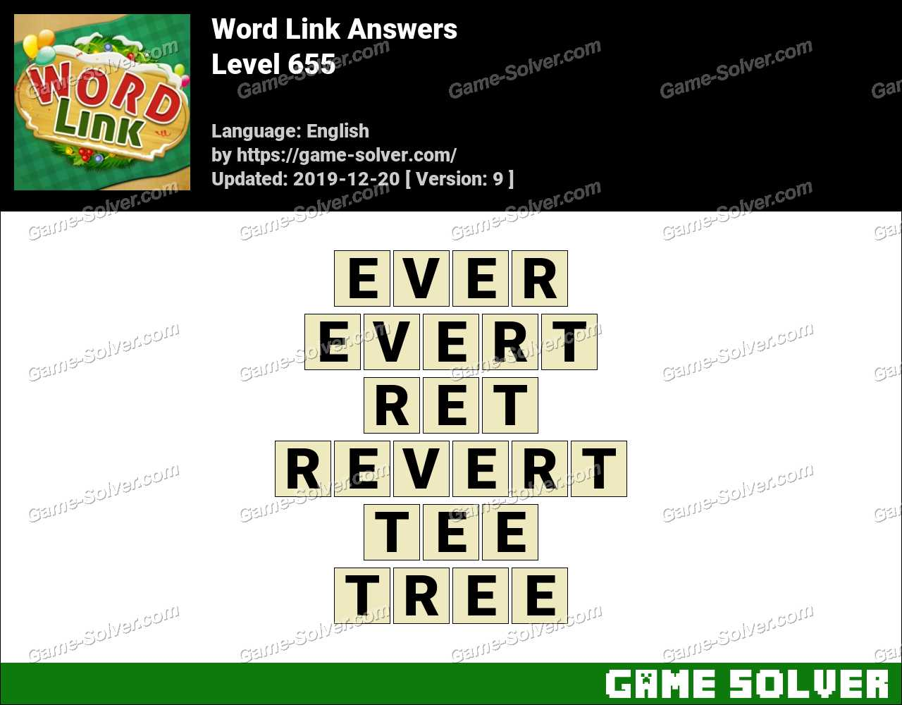 Word Link Level 655 Answers